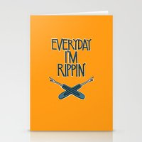 Everyday I'm Rippin' Stationery Cards