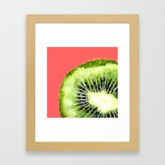 Kiwi on Coral Framed Art Print