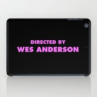 Directed By Wes Anderson iPad Case