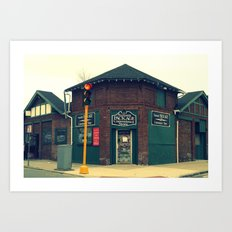 Summit Package Store in Springfield, MA Art Print