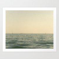 Fleet Nautical Sailboat Art Print