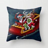 Christmas Hijackers Throw Pillow