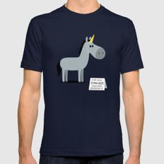 Unicorn Mens Fitted Tee Navy SMALL