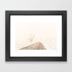 White Out Framed Art Print