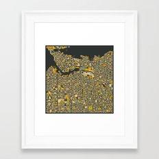 VANCOUVER MAP Framed Art Print