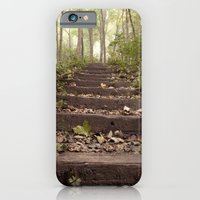 stairs in the woods iPhone 6 Slim Case