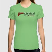 silencer [reloaded] Womens Fitted Tee Grass SMALL