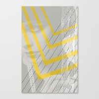 Lady in lines Canvas Print