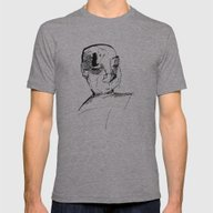 Anonymous Face Mens Fitted Tee Athletic Grey SMALL