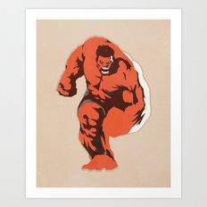 Thunderbolt Ross Art Print