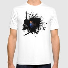 Blue Clapton SMALL Mens Fitted Tee White