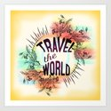 Travel the World Art Print
