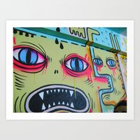 Monsters on the Wall Art Print