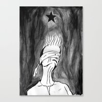 Lazarus 2 - Bowie Blacks… Canvas Print