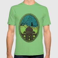 Indian cat view Mens Fitted Tee Grass SMALL