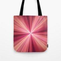 Pink Rays Abstract Fract… Tote Bag
