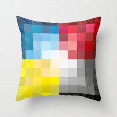 CMYK Pixel Throw Pillow