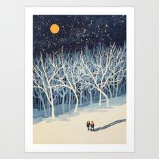 If On A Winter's Night Y… Art Print