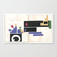 sketchbook collage Canvas Print