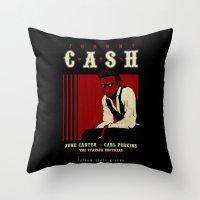 Cash Live at Folsom Prison Throw Pillow