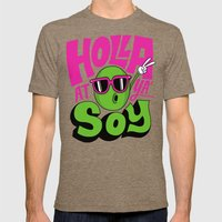 Holla At Ya' Soy Mens Fitted Tee Tri-Coffee SMALL