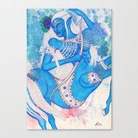 Sagittarius, The Lucky Traveler: Nov 22 - Dec 21 / Original Gouache On Paper Canvas Print