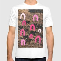 Horseshoes  Mens Fitted Tee White SMALL