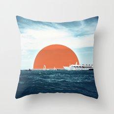 Shipping Sun Throw Pillow