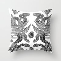Serpent's Choir Throw Pillow