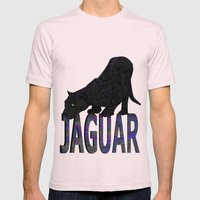 Jaguar Mens Fitted Tee Light Pink SMALL