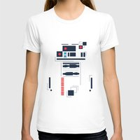 R2D2 Abstract Womens Fitted Tee White SMALL
