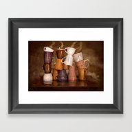 Cafehouse (without Windo… Framed Art Print