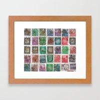 Old Stamps Framed Art Print