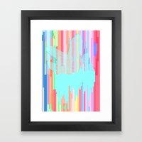 Crystal 2: Glitched Framed Art Print
