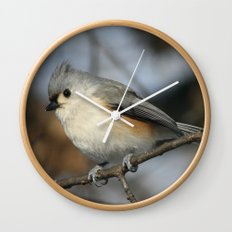 Tufted Titmouse Bird Wall Clock
