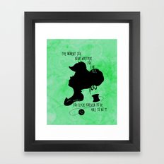 The Moment You Doubt You Can Fly Framed Art Print