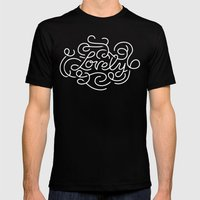 Lovely Mens Fitted Tee Black SMALL