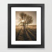 Long Shadows Framed Art Print