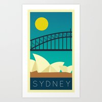 Sydney - Vintage Retro Art Print