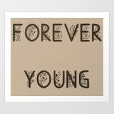 ∞ YOUNG Art Print