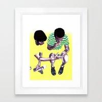 Fade. Framed Art Print