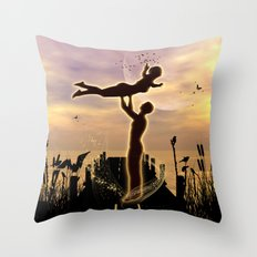 Dance with me in the sunset Throw Pillow
