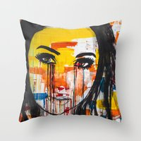 The unseen emotions of her innocence Throw Pillow