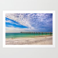 Island Beach Walk Art Print