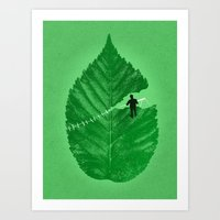 Loose Leaf Art Print