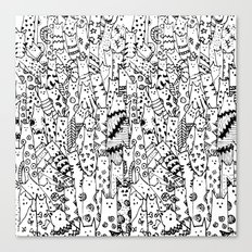 Cat Doodles Canvas Print