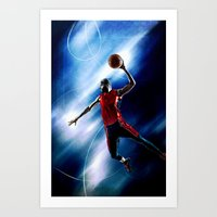 Olympic game basket Art Print