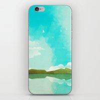 Warm Blue Sky iPhone & iPod Skin