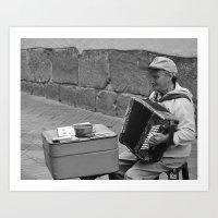 Ecuadorian Street Musici… Art Print