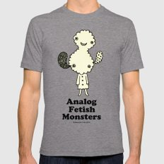 Mr.cloud (Analog Fetish Monsters) Mens Fitted Tee Tri-Grey SMALL